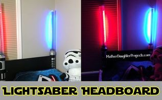 lightsaber headboard, bedroom ideas, diy, lighting, woodworking projects