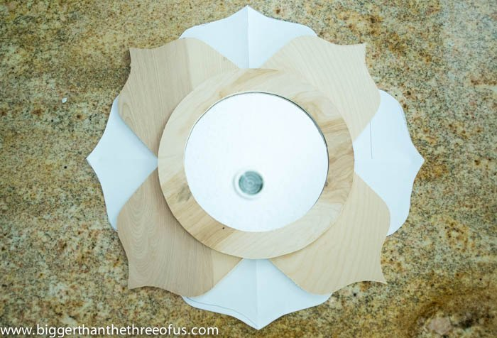 anthropologie inspired lotus mirror, wall decor, woodworking projects