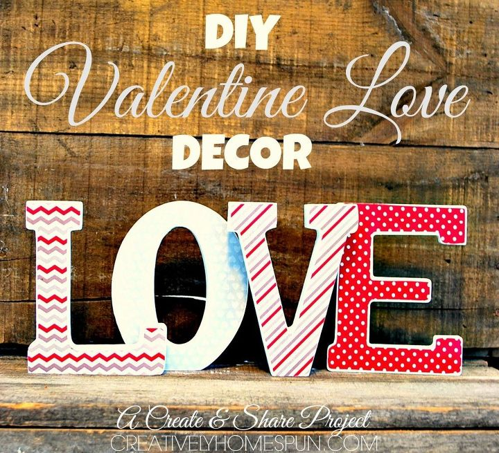 diy love letter valentine decor, crafts, seasonal holiday decor, valentines day ideas