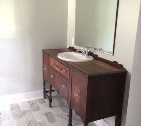 5 vintage vanity turned into unique master bathroom vanity bathroom ideas painted furniture samantha greenfield