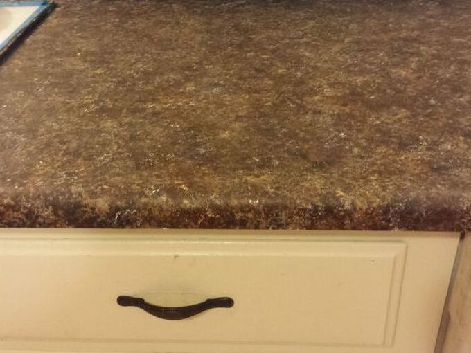 painting over dated formica, countertops, how to, kitchen design, painting