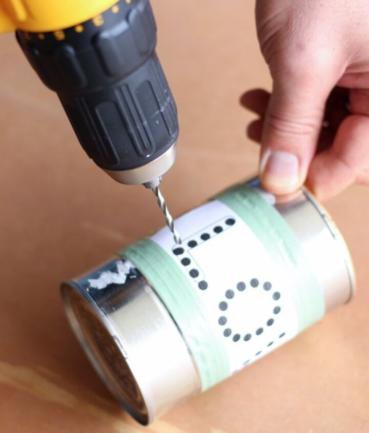 Use a drill to make evenly spaced holes.