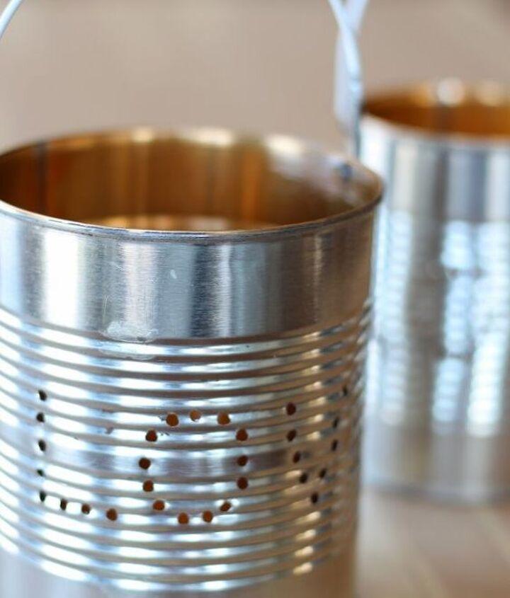 Tin lanterns ready for paint.
