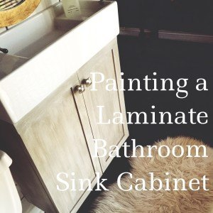 faux finishing a laminate sink cabinet, bathroom ideas, painted furniture