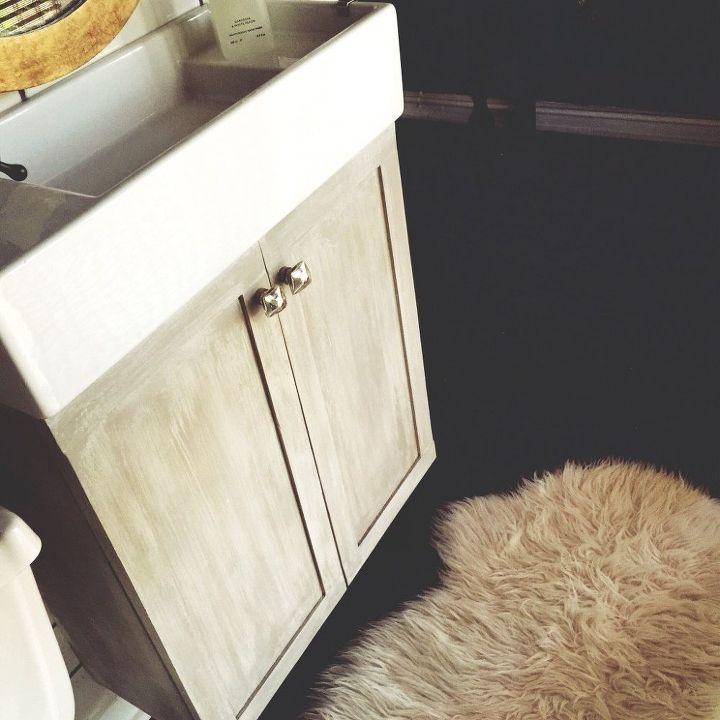 Faux Finishing A Laminate Sink Cabinet Hometalk