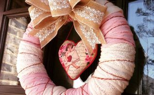 valentine wreath from thrift store sweaters, crafts, repurposing upcycling, seasonal holiday decor, valentines day ideas, wreaths