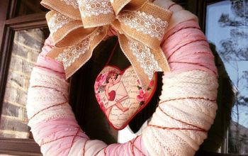 Valentine Wreath From Thrift Store Sweaters
