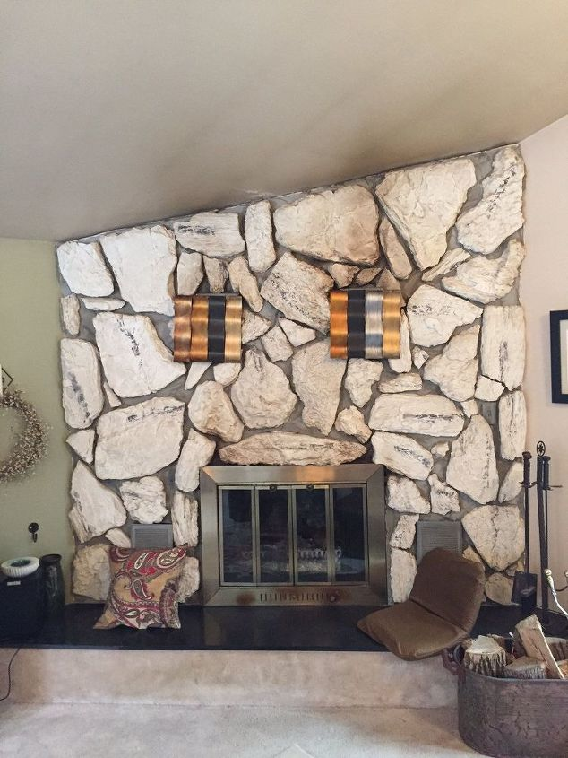 Stone Fireplace Anyone Know How To Clean This Hometalk