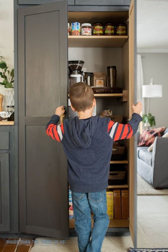 how to organize a small pantry, closet, diy, how to, kitchen cabinets, kitchen design, organizing, painted furniture, woodworking projects