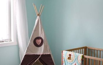 a diy teepee reading tent for a toddler room, bedroom ideas, diy, reupholster