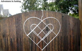 fencing to valentine s fence wreath, crafts, fences, seasonal holiday decor, valentines day ideas