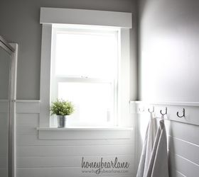 Planked Bathroom Wall, Bathroom Ideas, Wall Decor, Woodworking Projects