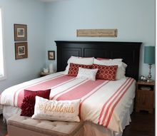 q would you paint this black headboard white, bedroom ideas, home decor, home decor dilemma, shabby chic