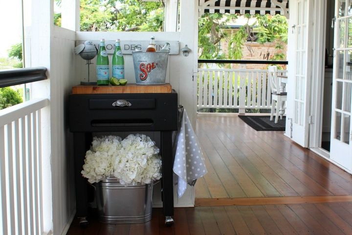 butcher s block makeover, painted furniture, repurposing upcycling
