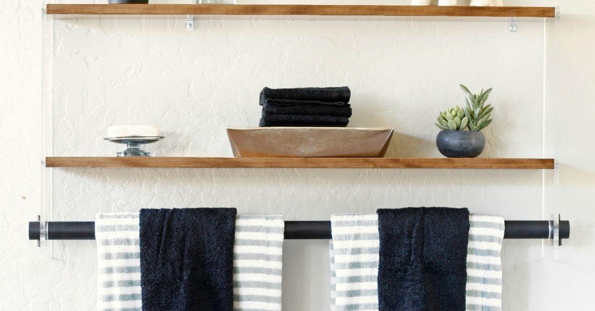 Modern Wood And Acrylic Shelf Hometalk