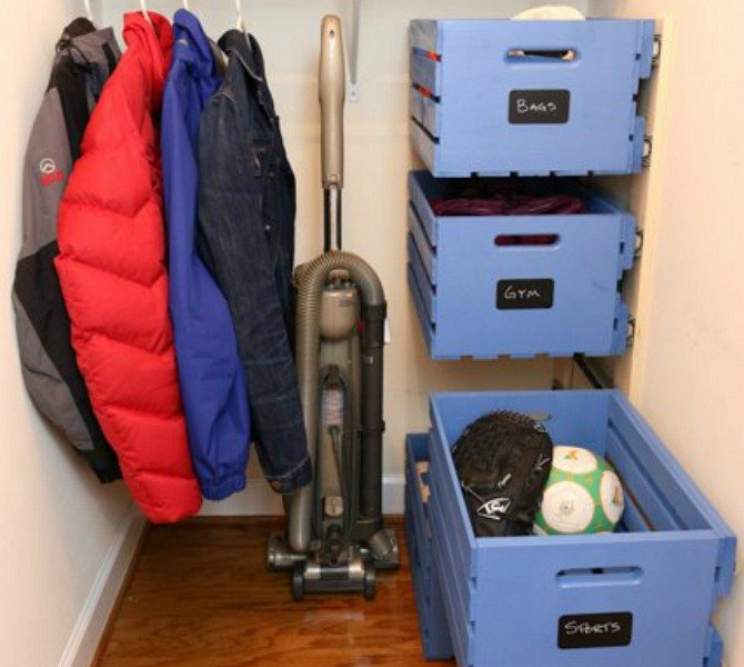 s 11 easy ways to expand tight spaces using crates, storage ideas, Store vertically with drawer slides