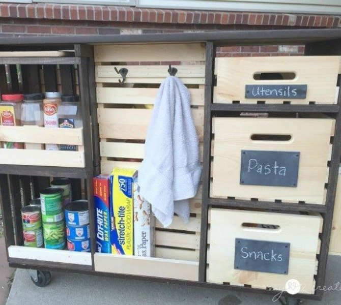 s 11 easy ways to expand tight spaces using crates, storage ideas, Pack more into an island less kitchen