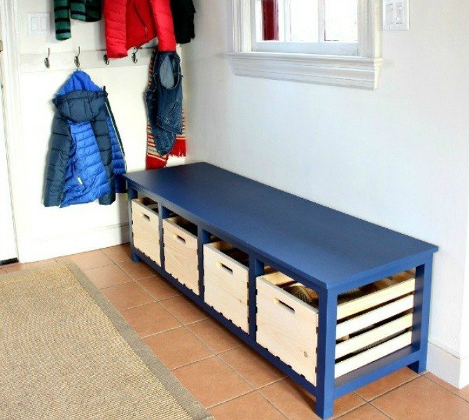 s 11 easy ways to expand tight spaces using crates, storage ideas, Tuck away every shoe in the entryway