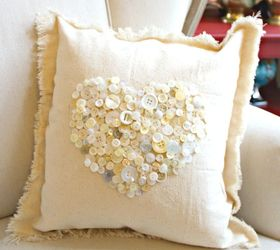 button heart pillow for valentines day crafts seasonal holiday decor valentines day ideas & Button Heart Pillow for Valentines Day | Hometalk
