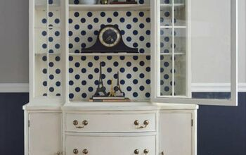 Easy China Cabinet Update, Fun With Polka Dots
