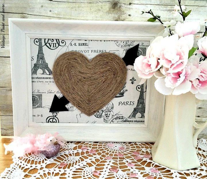vintage valentine wall art, crafts, seasonal holiday decor, valentines day ideas, wall decor