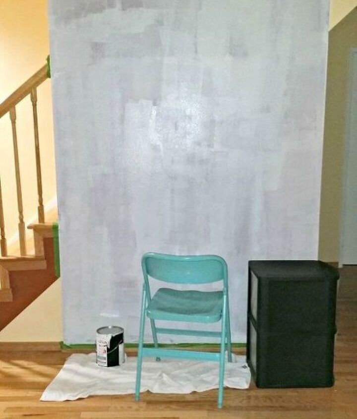 diy entryway feature wall makeover, foyer, painted furniture