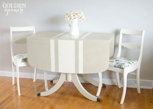 How To Paint Straight Thin Stripes On Furniture