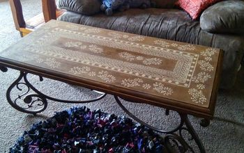 faux inlay coffee table, painted furniture