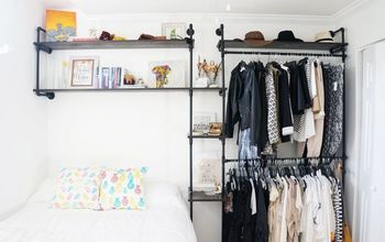 DIY Full Wall Industrial Piping Shelves
