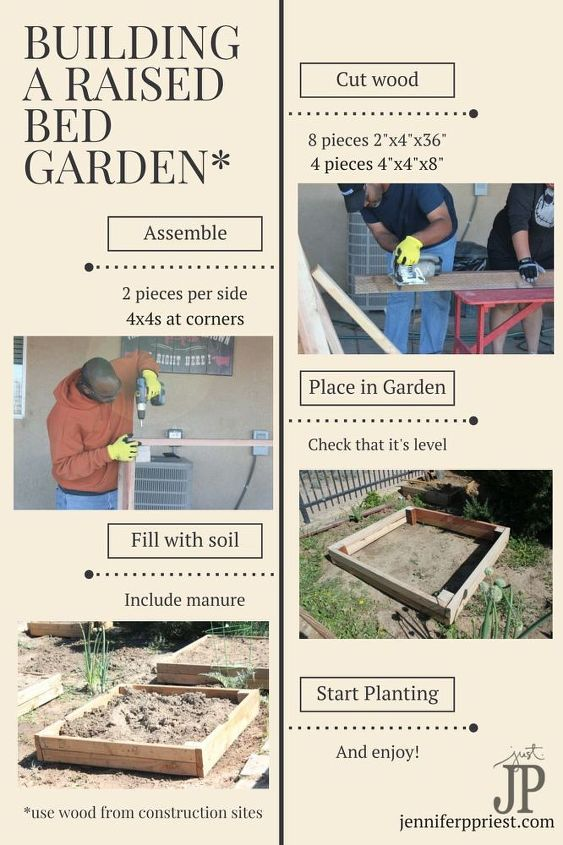 diy raised bed garden with reclaimed wood, gardening, raised garden beds, woodworking projects