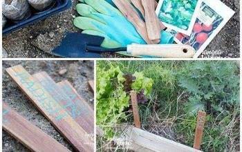 DIY Garden Markers - How To Upcycle Paint Stir Sticks
