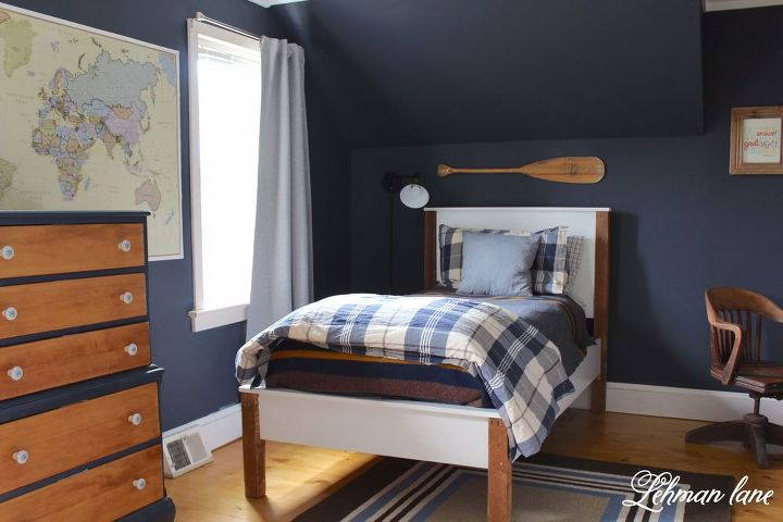 Navy Boys Bedroom