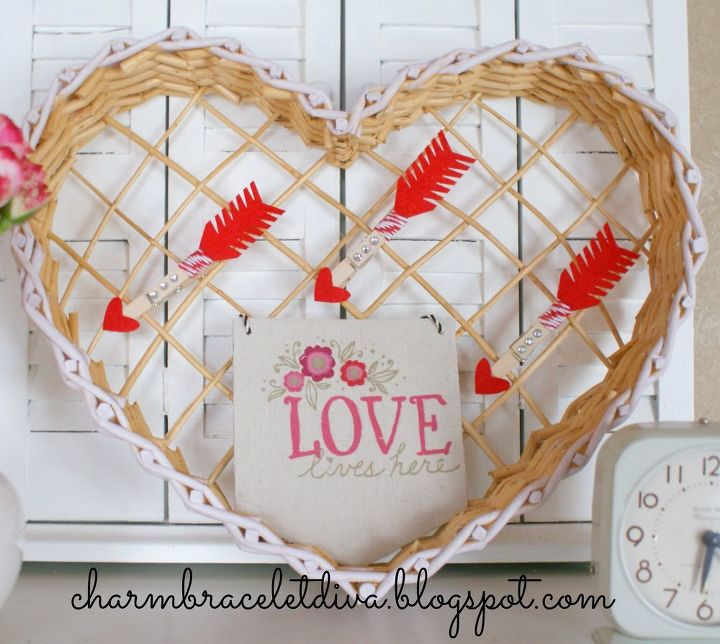 create your own valentine s display with vintage and thrifty finds, seasonal holiday decor, valentines day ideas
