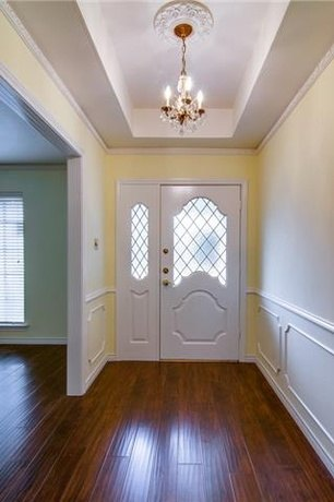 wallpapered entryway makeover, foyer, wall decor