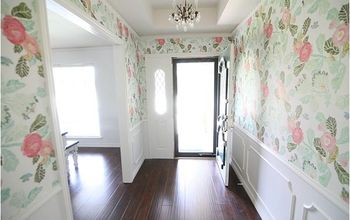 Wallpapered Entryway Makeover