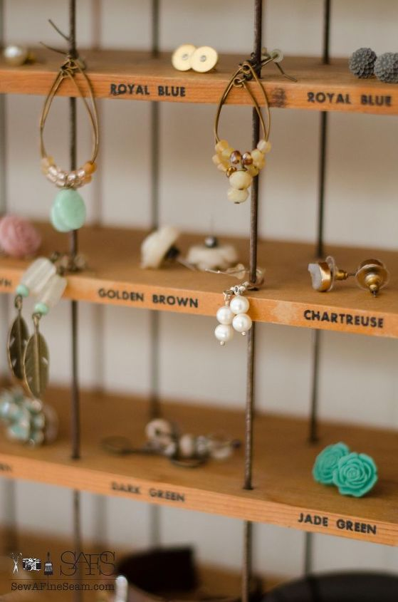 jewelry and makeup organization from an old dye rack, organizing, repurposing upcycling, storage ideas
