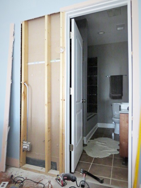 How To Destroy Your Fears Install A Pocket Door Hometalk