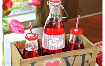 easy valentine s day soda crate centerpiece, crafts, seasonal holiday decor, valentines day ideas