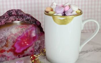 diy gold lips coffee mug for valentine s, crafts, seasonal holiday decor, valentines day ideas