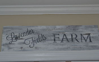 Absolutely the Cheapest and Easiest Vintage Sign and Tutorial!