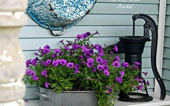 vintage planters, container gardening, gardening, home decor