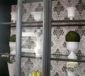 Update Those Outdated China Cabinets With Wallpaper | Hometalk
