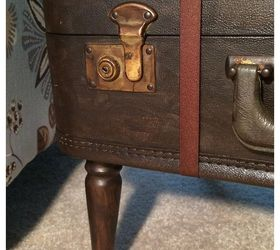 Vintage Suitcase Side Table, Diy, Painted Furniture, Repurposing Upcycling,  Rustic Furniture