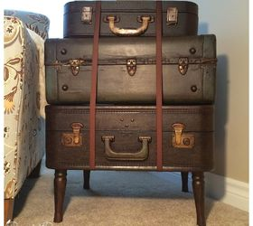 Merveilleux Vintage Suitcase Side Table, Diy, Painted Furniture, Repurposing Upcycling,  Rustic Furniture