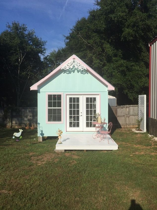 My Little She Shed | Hometalk on outdoor patio lighting ideas, cute porches, deck decorating ideas, small apartment patio decorating ideas, cute flowers, cute furniture, garden ideas, outside kitchen ideas, camping bachelorette party ideas, small back yard landscaping ideas, masterbath ideas, vegetable ideas, small front yard landscaping ideas, wine barrel planter ideas, cute garden gnomes, cute home, cute diy, bean pole ideas, cute front yard landscaping, modern bedroom wall decorating ideas,