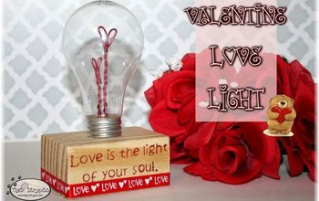 how to make a valentine love light, how to, seasonal holiday decor, valentines day ideas
