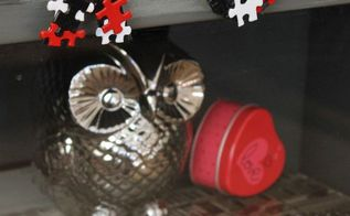 puzzle art valentine garland, crafts, seasonal holiday decor, valentines day ideas