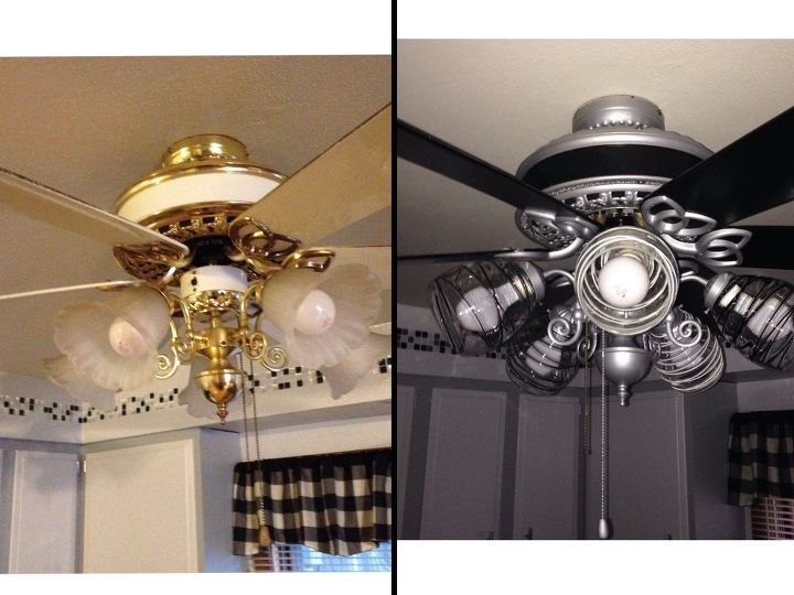don t replace your ceiling fan repainted it, diy, painting, wall decor