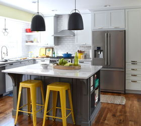 White With Pops Of Color Kitchen Makeover, Diy, Kitchen Backsplash, Kitchen  Cabinets,