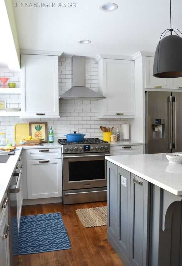 white color kitchen. white with pops of color kitchen makeover  diy backsplash cabinets White With Pops Color KITCHEN MAKEOVER Hometalk